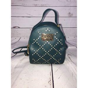 Bebe Mini Backpack Green With Rhinestone Detail